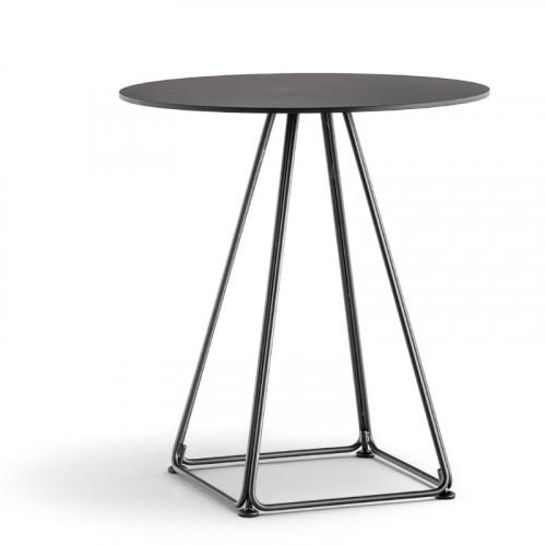 Stalen tafel Lunar rond 5440