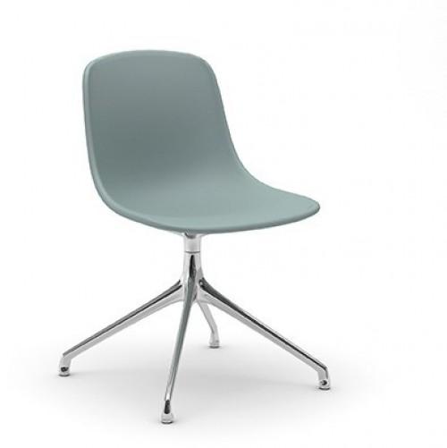 Gestoffeerde stoel Pure Loop SW - gestoffeerde zitschaal met stalen onderstel