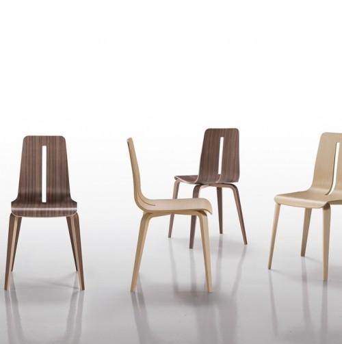 Houten stoel Platone - kantine stoelen - mv kantoor
