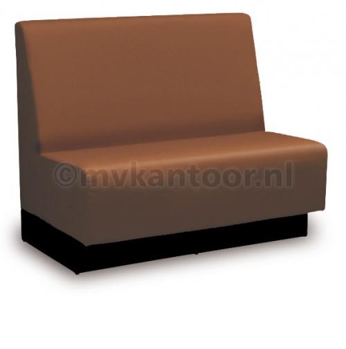 Kantine interieur - kantine bank - wandbank kunstleder - schoolkantine bank - bruin