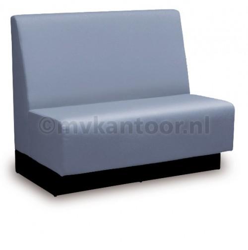 Wandbank blauw - zitbank op maat - restaurant bank - kantine bedrijf - mv kantoor