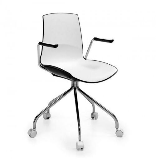 Verrijdbare stoel Now met armleggers - MV Kantoor