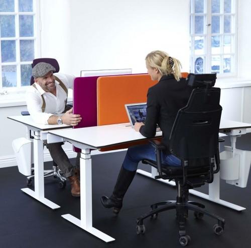 ScreenIt A30 slide bureau scheidingswand - akoestiek kantoor - mv kantoor