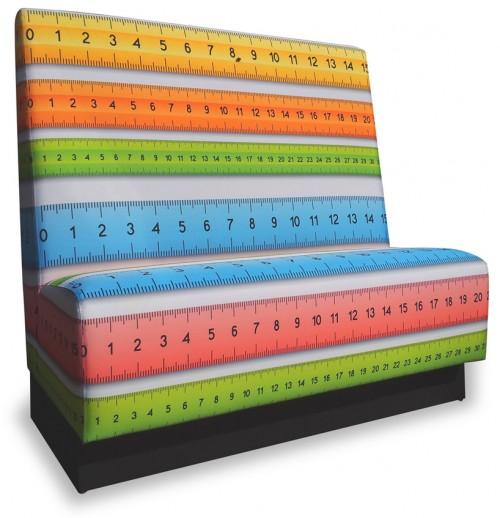 Treinbank kleur - schoolkantine inrichting - schoolkantine meubilair - eetbank - mv kantoor