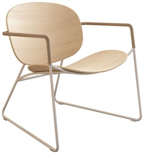 Loungestoel Tondina Wood - houten design loungestoel Infiniti design - MV Kantoor