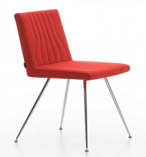 Design stoel rood Quba 4-poot