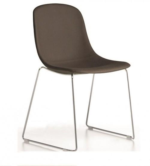 Gestoffeerde stoel Pure Loop SL - stapelbare sledeframe stoel - MV Kantoor