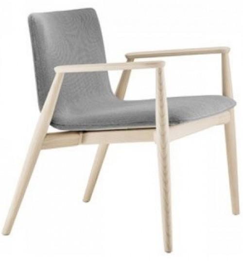Houten loungestoel Malmö 296 - comfort fauteuils