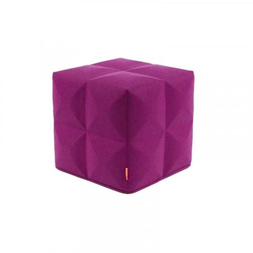 BuzziCube 3D vierkante poef roze