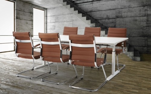 Hoogte instelbare vergadertafel Easy - MV Kantoor