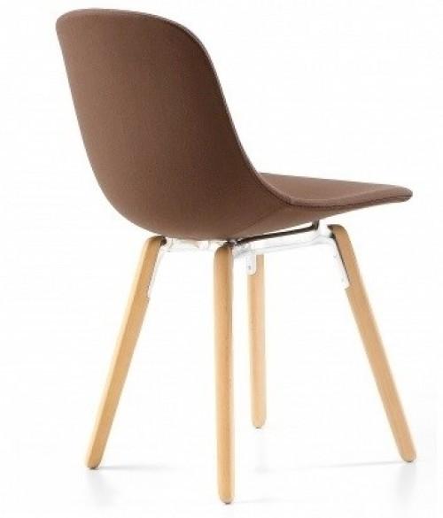Gestoffeerde stoel Pure Loop Wood (kantinestoelen) - kantine inrichting - MV Kantoor