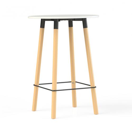 Corner vergadertafel rond 110cm hoog - mv kantoor