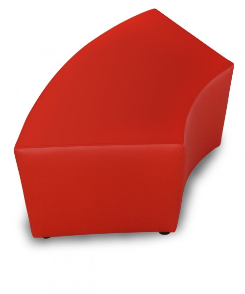 Hocker curved rond rood