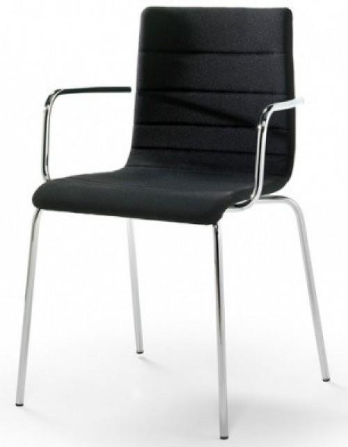 Gestoffeerde stoel Traccia 743 - kantine stoelen