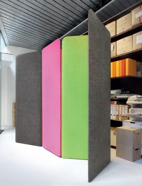 BuzziScreen akoestische staande scheidingswand - akoestische wand kantoor