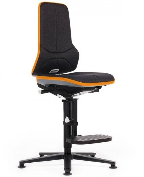 Hoge industriestoel Neon 3 duotec orange - bureaustoel zonder armleuning - mv kantoor