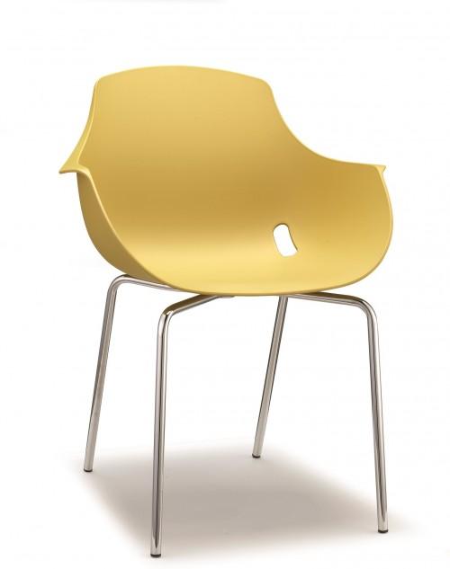 Ago 4-poot stoel geel