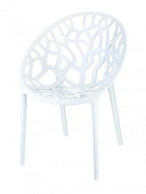 Witte design kuipstoel HS630WT - project stoel voor kantine inrichting