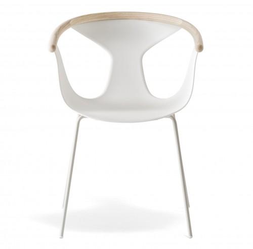 Fox fauteuil - witte kunststof loungestoel - MV Kantoor