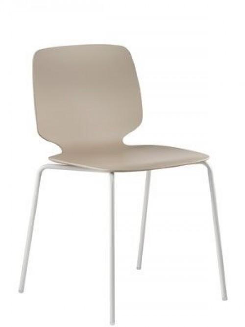 Kunststof kantine stoel Babila 2730 - koppelbare stoelen- mv kantoor