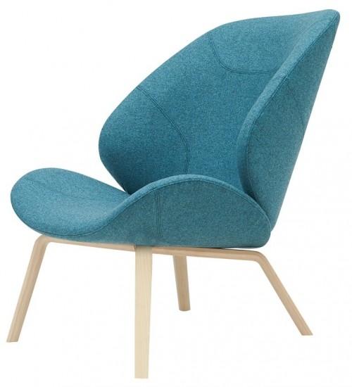 Loungestoel Eden met houten poten - mv kantoor