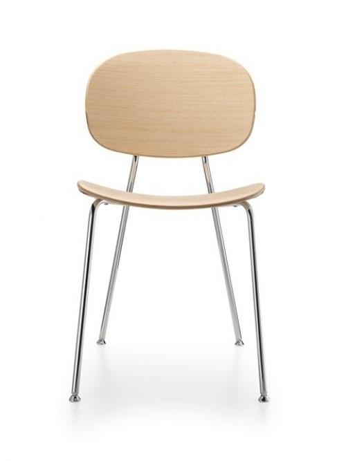 Kantinestoel Tondina Wood - houten stoelen kopen - MV Kantoor