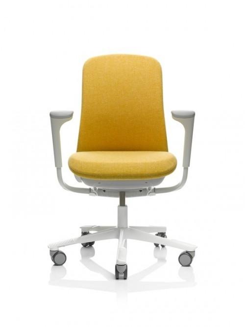 Gele bureaustoel met armleuningen 7200