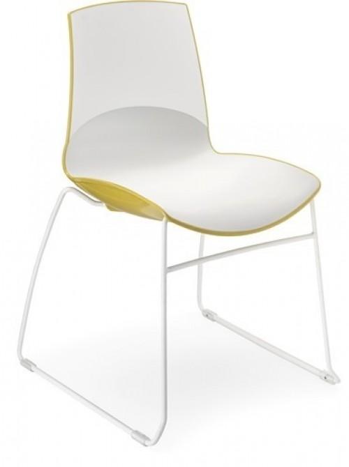 Kunststof stoel Now Sledeframe - MV Kantoor