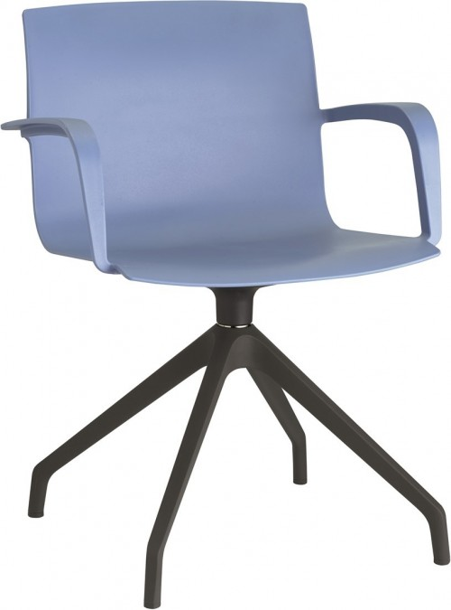 Stoel Pip Spinframe - draaibare kunststof stoel met armleuningen - MV Kantoor