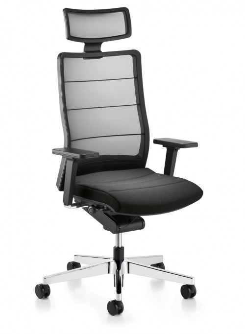Bureaustoel Airpad 3C72 Leder - leren bureaustoel - mv kantoor