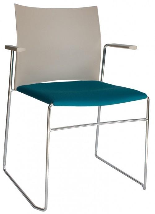 Moderne gestoffeerde en stapelbare stoel FP-a450-30 - koppelbare zaalstoel - MV Kantoor