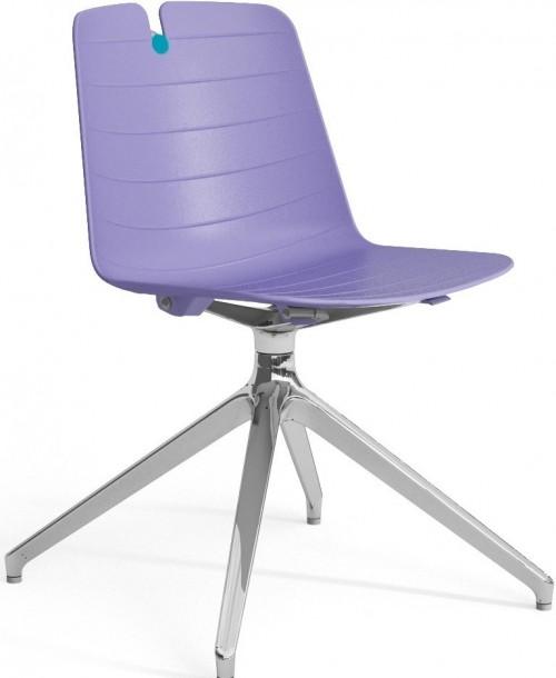 Stoel Iris Spinframe - kunststof stoel met draaibaar onderstel - MV Kantoor