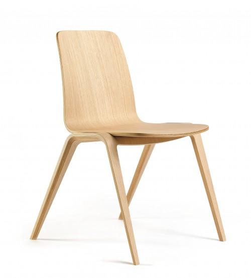 Houten stoel Woodstock - houten kantinestoelen - MV kantoor