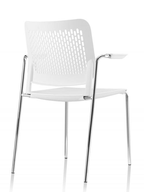 Kunststof stoel FP-A490 wit - MV Kantoor