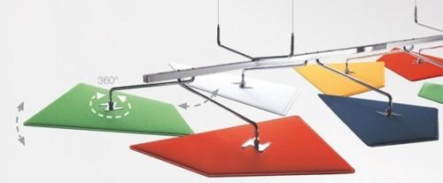 Akoestisch plafondpaneel Flap - MV Kantoor
