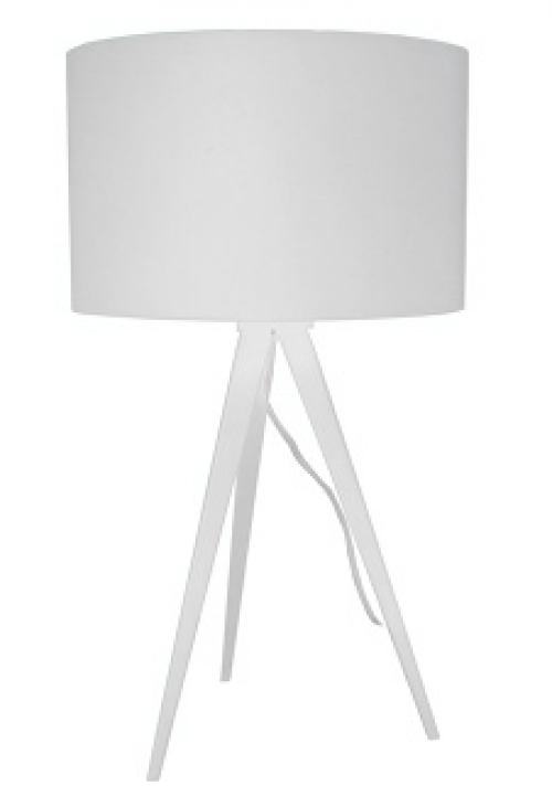 Tafellamp met witte kap - MV Kantoor