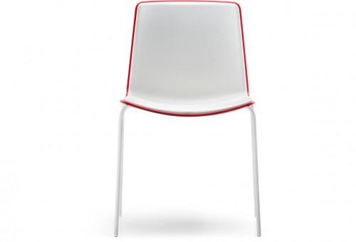 Kunststof stoel Tweet 890 Uni & Bi-color - Pedrali stoel