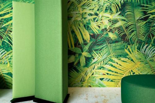 BuzziSkin akoestisch behang met eigen print - akoestische demping