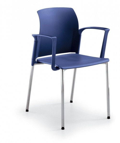 Solide stoel FP-A20 blauw (kantinestoelen) - stapelbare stoelen - MV antoor