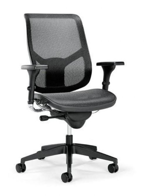 Bureaustoel aanbieding Se7en Air - verstelbare ergonomische bureaustoel - mv kantoor