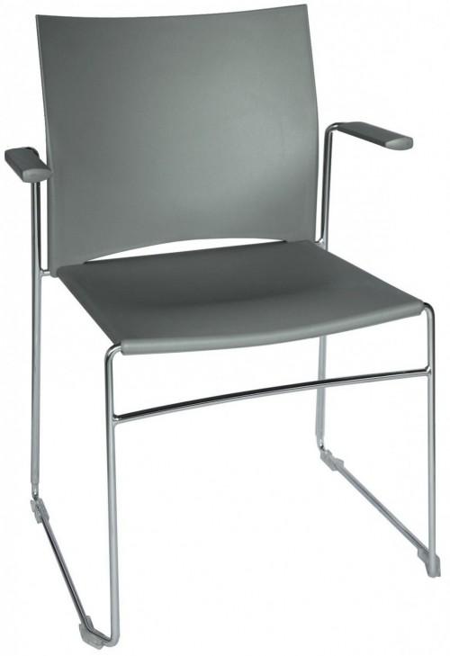 Kunststof vergaderstoel met armleggers FP-A450 - stapelbare kantine stoelen - MV Kantoor