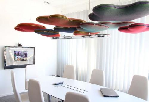 Akoestisch paneel Hang Over - akoestische plafondpanelen - mv kantoor