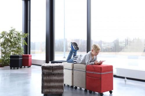 SMS Box poef met opbergruimte - akoestische meubelen - mv kantoor