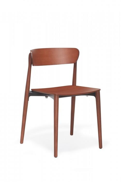 Houten stoel Nemea - MV Kantoor