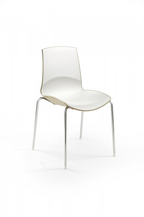 Kunststof stoel Now - stapelbare kantinestoelen kantoor