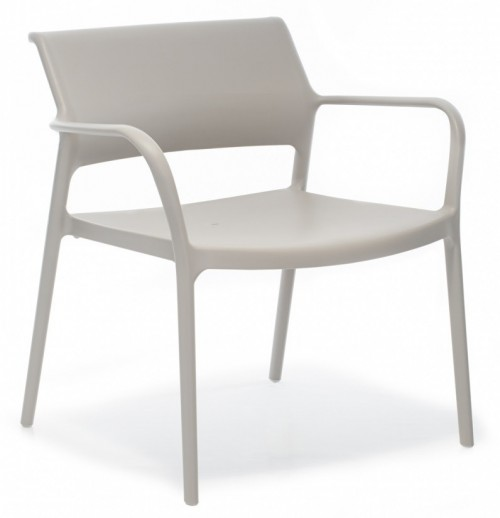 UV bestendige Loungestoel Ara 316 - stapelbare stoel voor kantine inrichting - mv kantoor