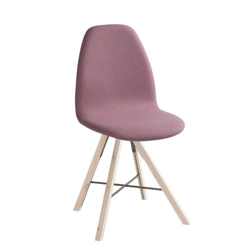 Square stoel houten frame