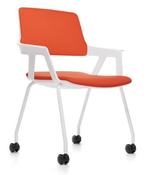 Gestoffeerde stoel Movy - moderne bezoekersstoel