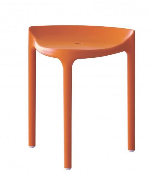 Kruk Happy 491 - oranje - kunststof krukken - mv kantoor