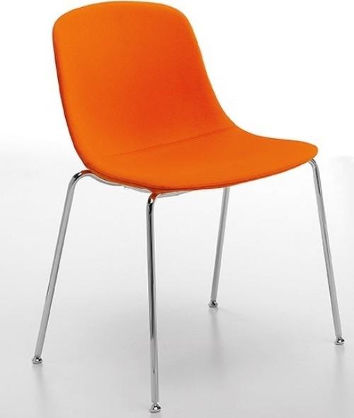 Gestoffeerde stoel Pure Loop UPH - stapelbare stoelen voor kantine inrichting
